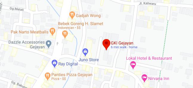 Lokasi GKI Gejayan