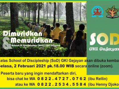 SOD GKI Gejayan Feb 2021